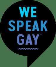 we speak gay - logo official