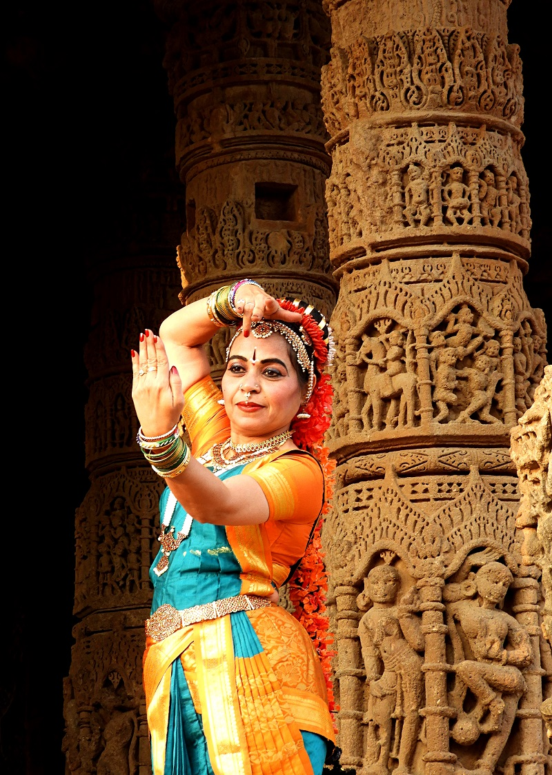 An Indian Classical dancer at the Sun Temple