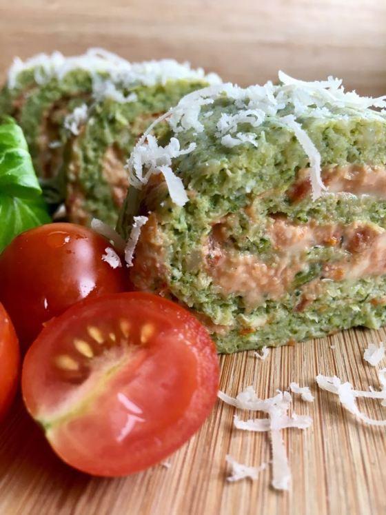 Rulo de brocoli con roquefort y tomate secowww.mimejorhornada.com