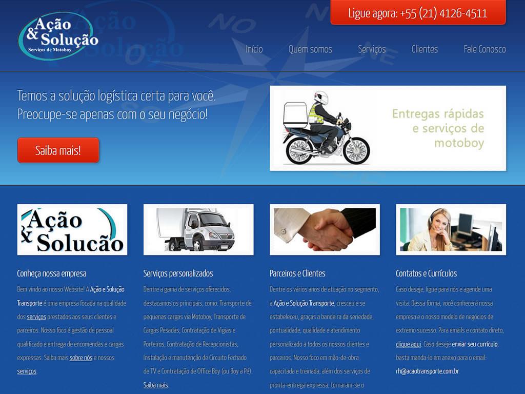 Novo site Ação & Solução Transporte