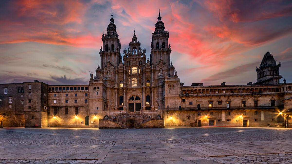 Catedral De Santiago de Compostela al atardecer