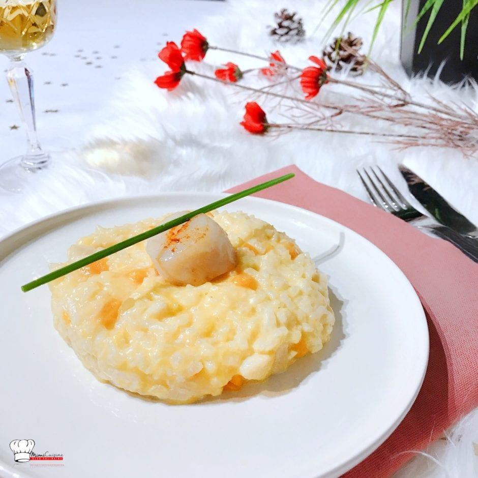 risotto au potiron et noix de saint jacques recette companion