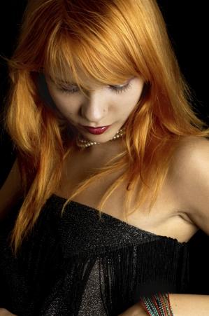 dark redhead portrait