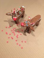 happy gingerbread reindeers