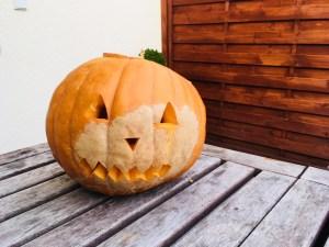 Unser Kürbis zu Halloween