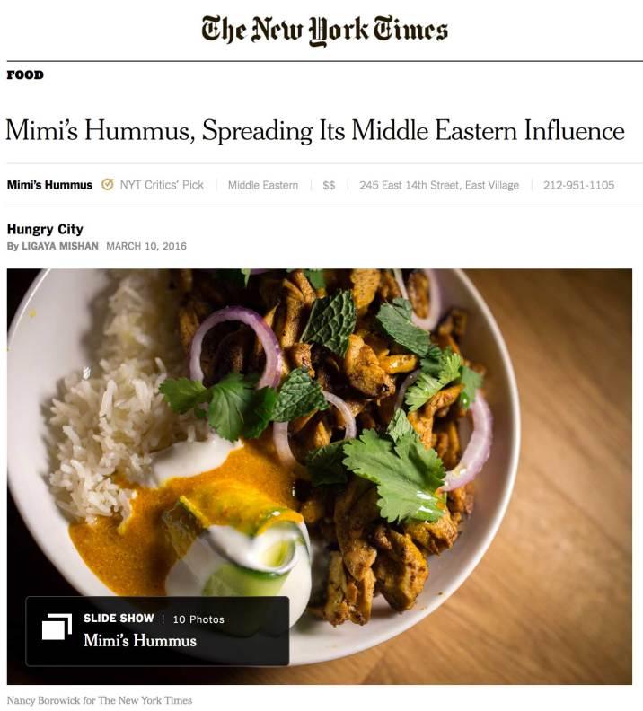 the new york times mimi s hummus