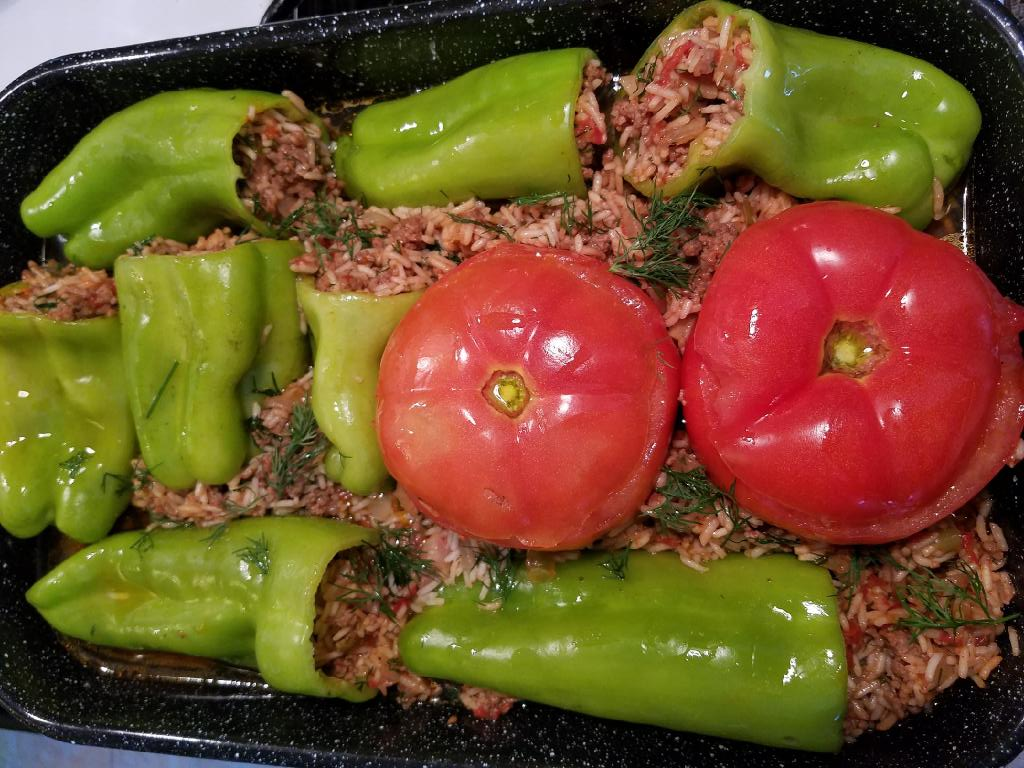 Stuffed Peppers Ground Beef Rice Before Cooking