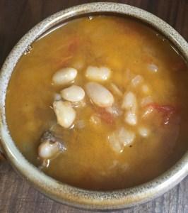White Bean Stew Served