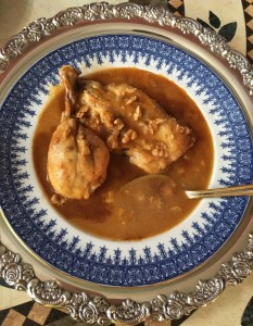 Chicken Walnut Soup Served