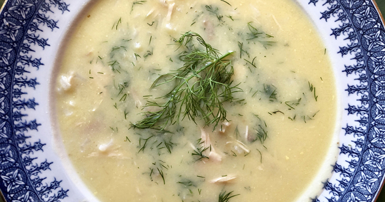 Greek Creamy Chicken Lemon Soup (Supë Pule me Limon)