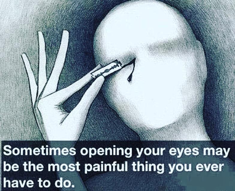 Opening your eyes