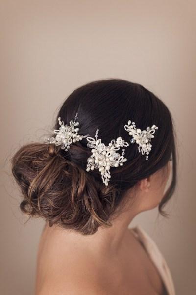 crystal and pearl bridal hair pins