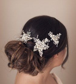 crystal and pearl bridal hair pins