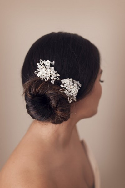 delicate wedding hair pins