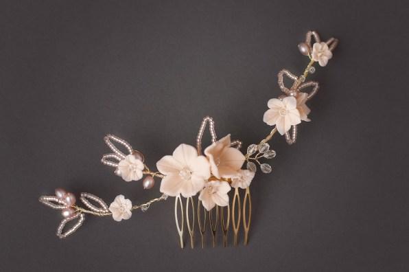 Sylvie Pink Pearl Comb
