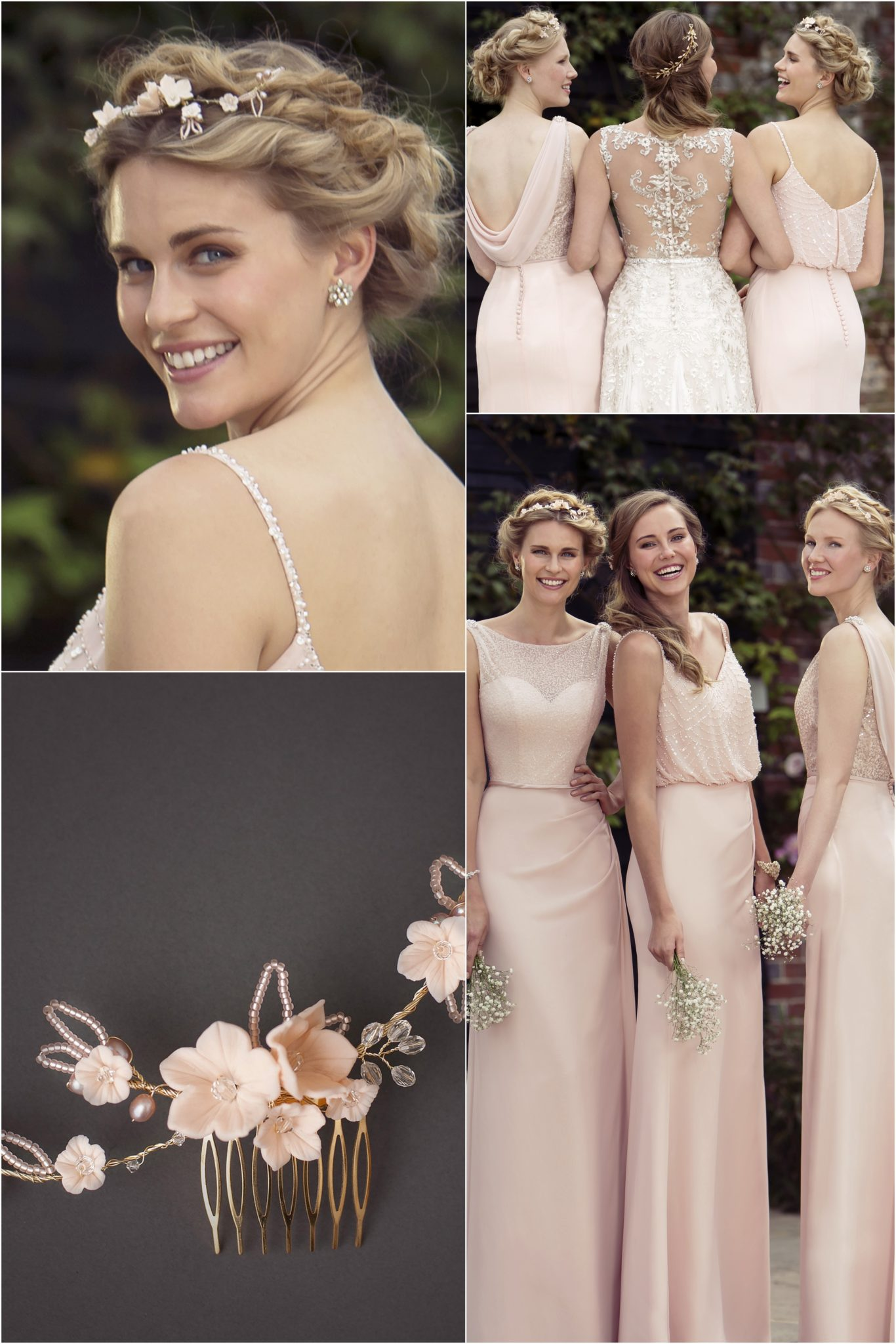 Collaboration with true bride wedding and bridesmaid dresses the blush pink bridesmaids ombrellifo Choice Image