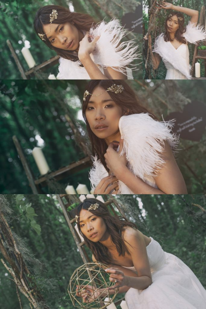forest Asian bride