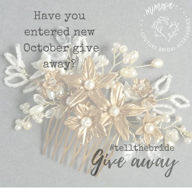 gold flower wedding hair comb