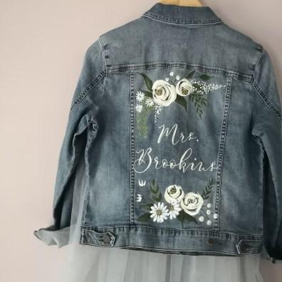 wedding jacket calligraphy