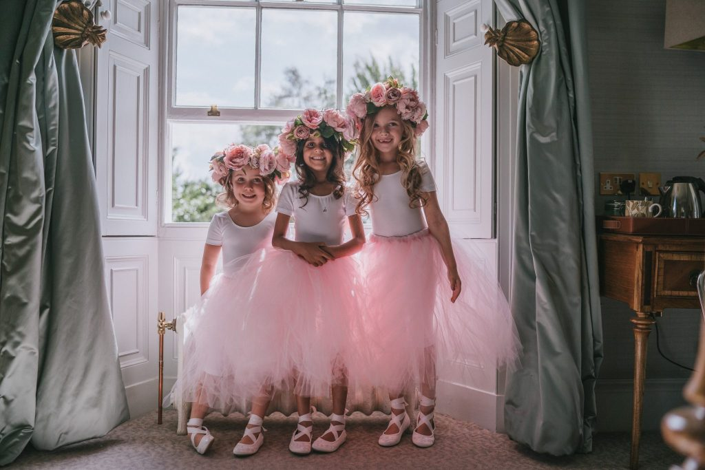 pink tutu tulle skirts for bridesmaids