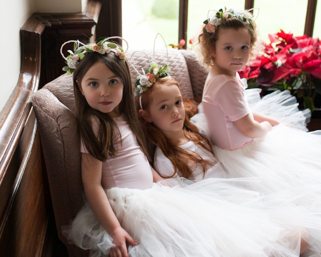ivory flower girl skirt