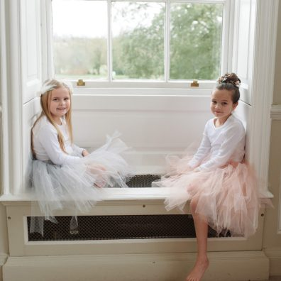 grey flower girl Tutu tulle skirt