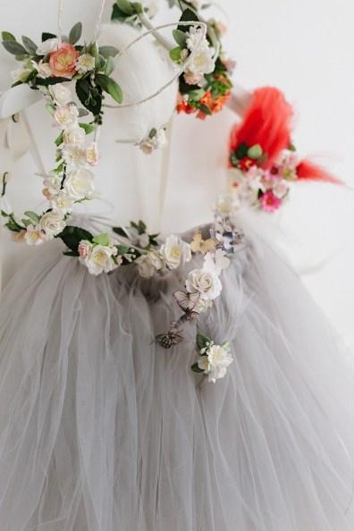 grey bridesmaid tutu tulle skirt