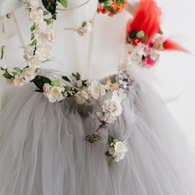 grey bridesmaid tutu tulle skirt
