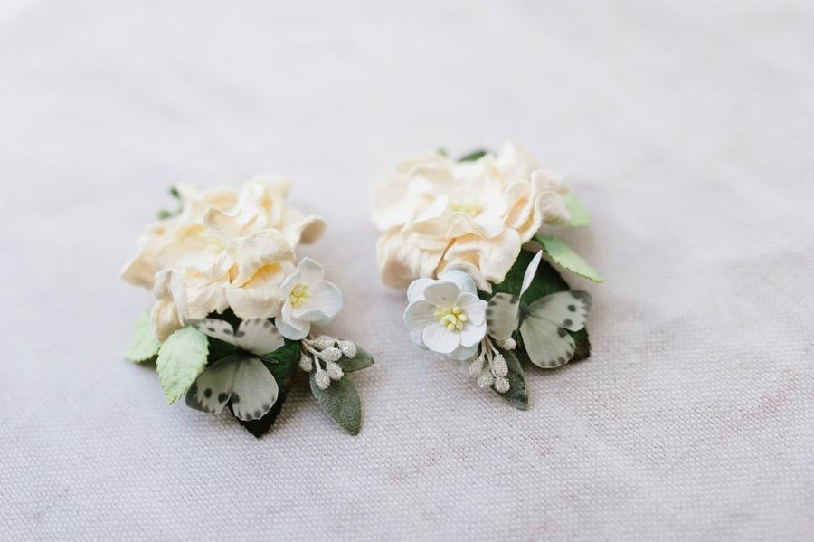 Custom coloured flower hair clips flower girls hair clips custom colours butterfly mightylinksfo