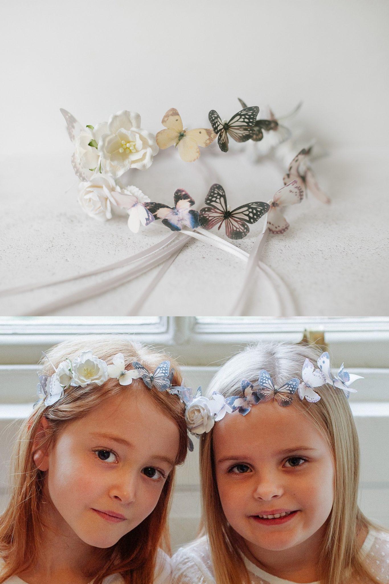 girls butterfly circlet hairband