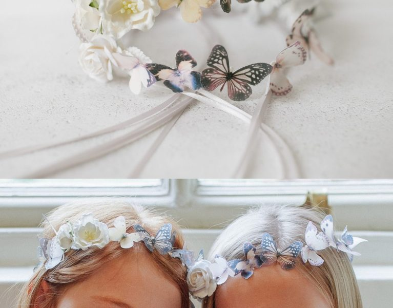 Butterfly Circlet for Flower Girls – Perfect for Whimsical Little Bridesmaids