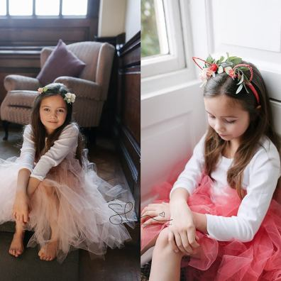 Coral flower girl tutu skirt uk