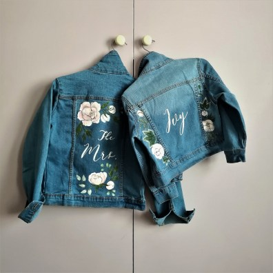 bridal denim jacket
