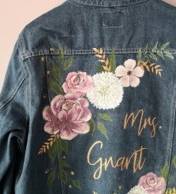 custom denim wedding jacket
