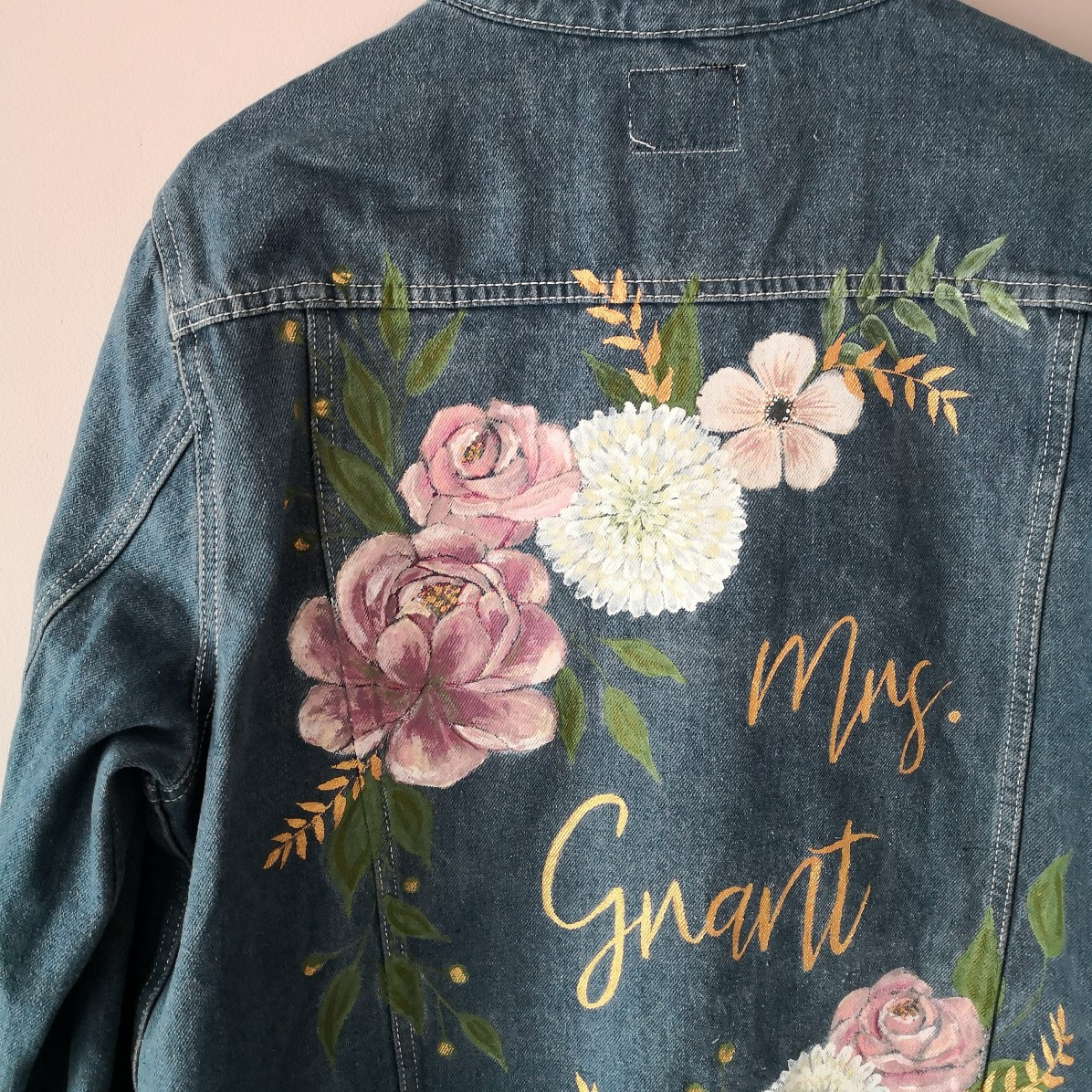 custom denim wedding jacket