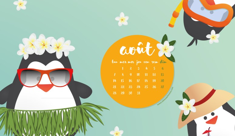 Calendrier d'Août 2017 (Freebies & Printable)