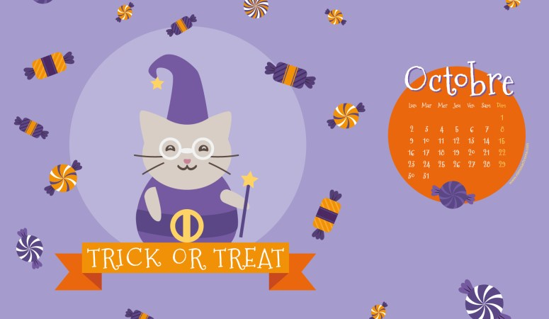 Calendrier de Octobre 2017 (Freebies & Printable)