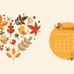 Calendrier de Novembre 2017 (Freebies & Printable)