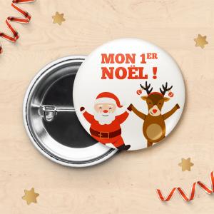 """Badge """"Mon 1er Noël"""" pour photo de bébé"""