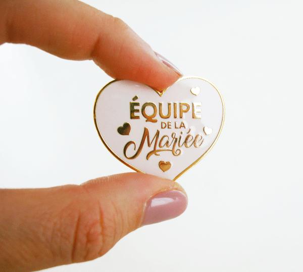 """Pin's pour EVJF ou mariage """"Equipe de la mariée"""" - badge mariage, enterrement de vie de jeune fille"""