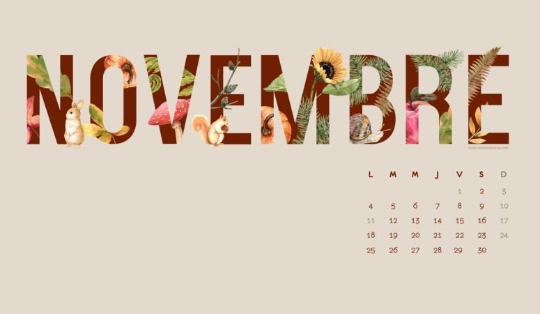 Calendrier de Novembre 2019 (Freebies & Printable)
