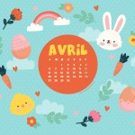 Calendrier d'Avril 2020 + coloriage à imprimer (Freebies & Printable)