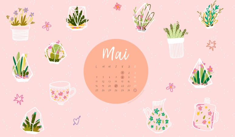 Calendrier de mai 2020 + coloriage à imprimer (Freebies & Printable)
