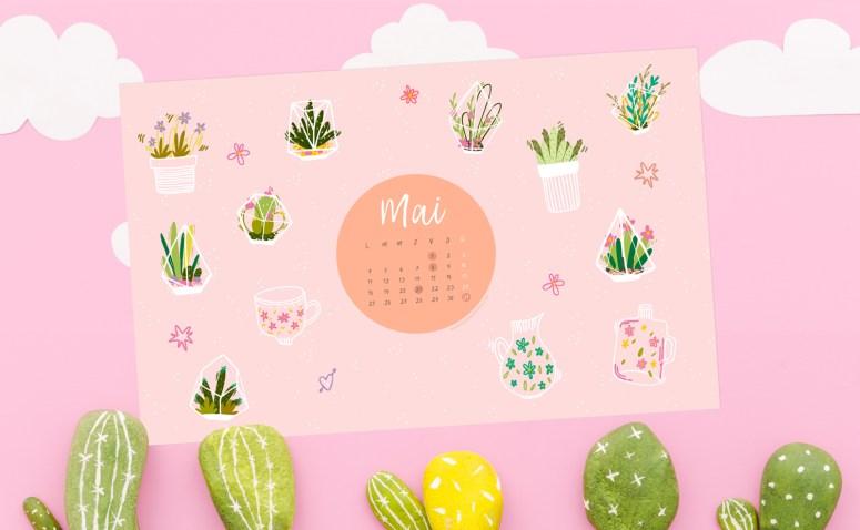 Calendrier de mai 2020 + coloriage à imprimer (Freebies & Printable)