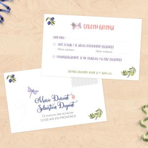 Carton invitation & RSVP - Provence