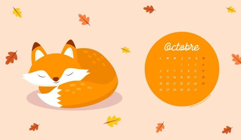 Calendrier d'Octobre 2020 (Freebies & Printable)