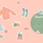 Calendrier de Novembre 2020 + coloriage à imprimer (Freebies & Printable)