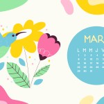 Calendrier de Mars 2021 (Freebies & Printable)