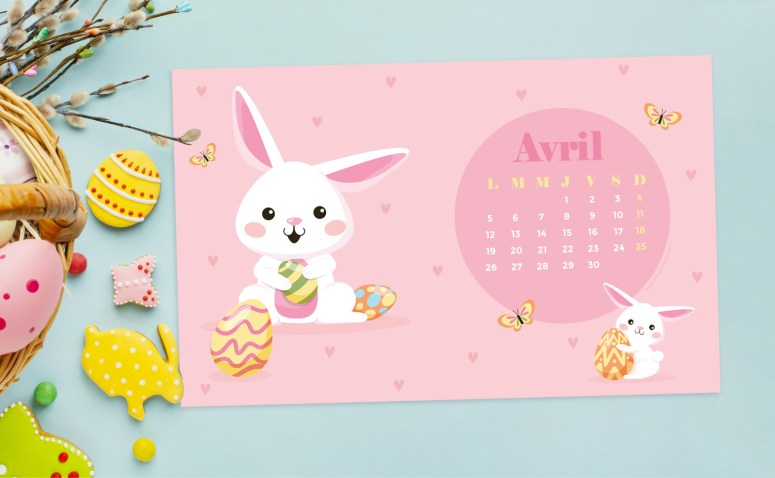 Calendrier d'Avril 2021 (Freebies & Printable)