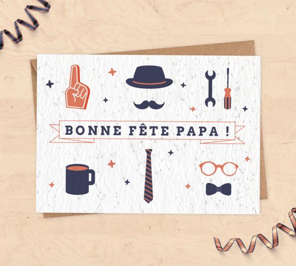 Carte à planter pour Fête des pères - Bonne fête papa !